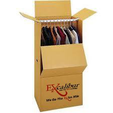wardrobe box - ideal for hanging items