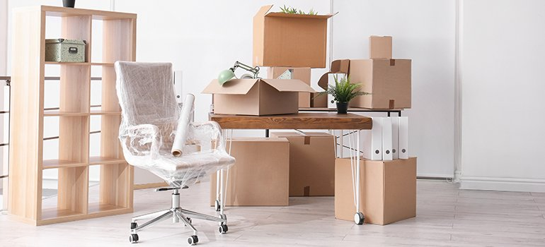 commercial movers Rockville MD - office furniture
