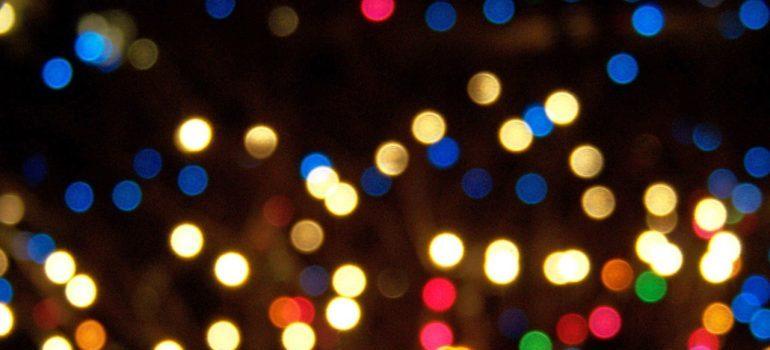 Store Christmas lights properly.