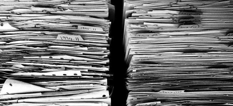 papers - how to organize documents when moving