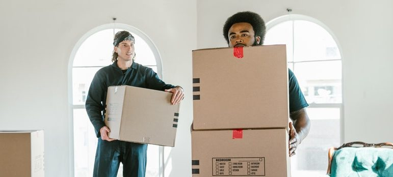 movers can help when moving in with a roommate